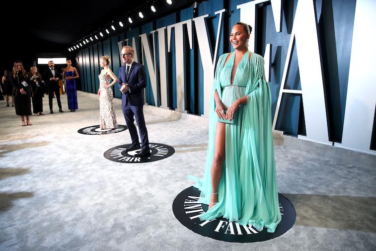 Chrissy Teigen at the Oscars