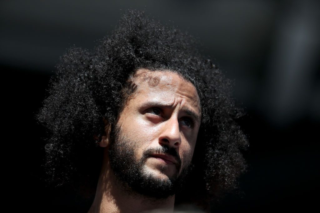 Colin Kaepernick at a sporting event in 2019
