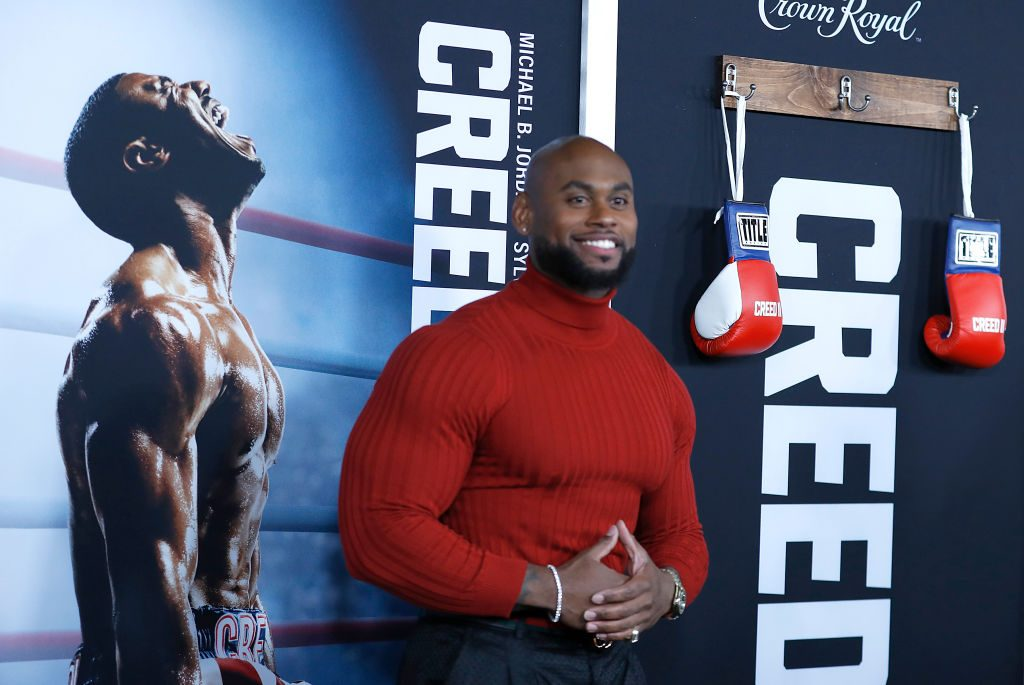 Corey Calliet at the Creed II premiere in New York |  John Lamparski/Getty Images