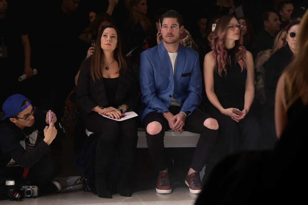 Craig Conover (C) attends the Nicole Miller fashion show during February 2020 - New York Fashion Week