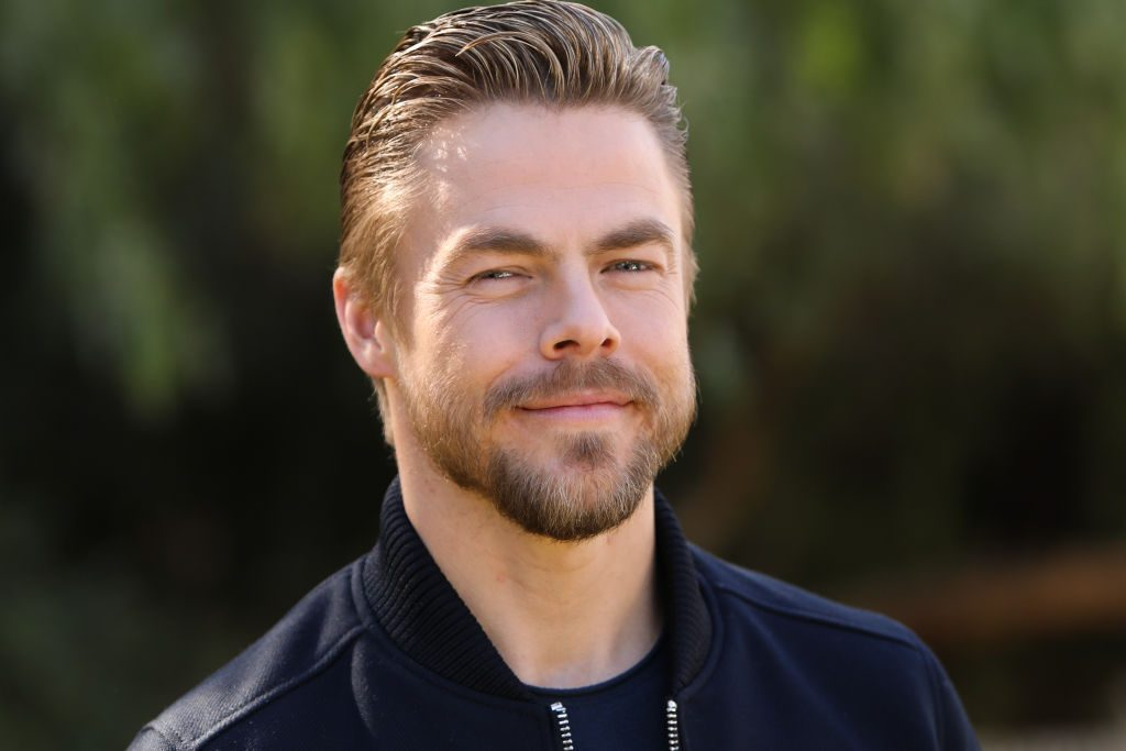 """TV personality/dancer Derek Hough visits Hallmark Channel's """"Home & Family"""" at Universal Studios Hollywood."""