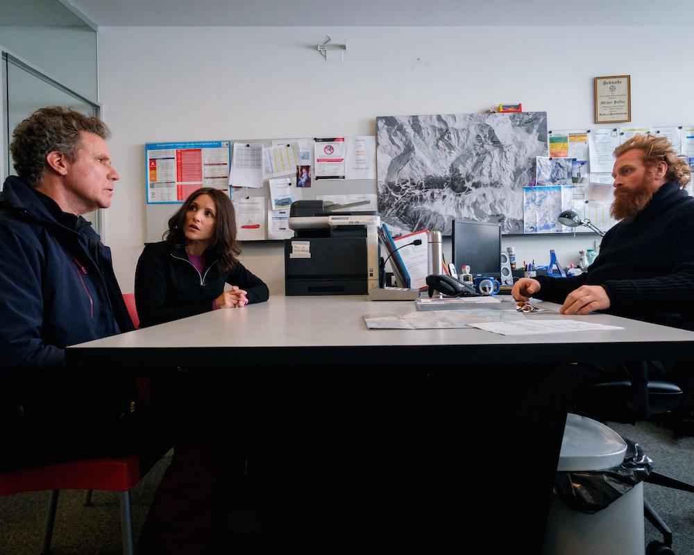 Downhill: Will Ferrell, Julia Louis-Dreyfus and Kristofer Hivju