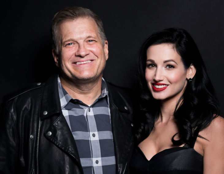 Drew Carey and Amie Harwick at an event in 2017