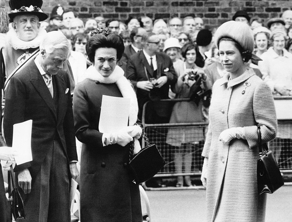 Duke and Duchess of Windsor with Queen Elizabeth