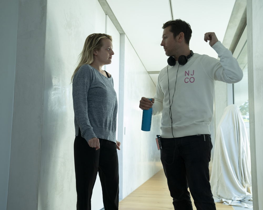 Leigh Whannell and Elisabeth Moss