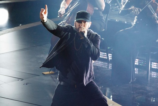 Eminem performs live at the 92nd Oscars
