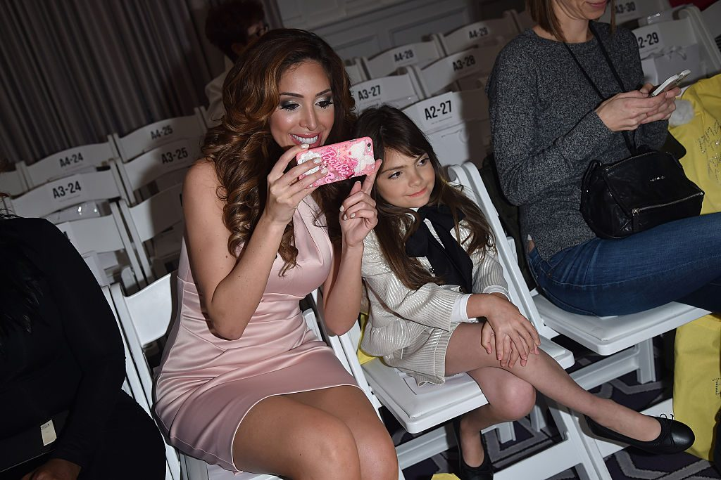 Farrah Abraham and her daughter Sophia Abraham attend Michelle Ann Kids + Bound By the Crown Couture Children's Wear fashion show