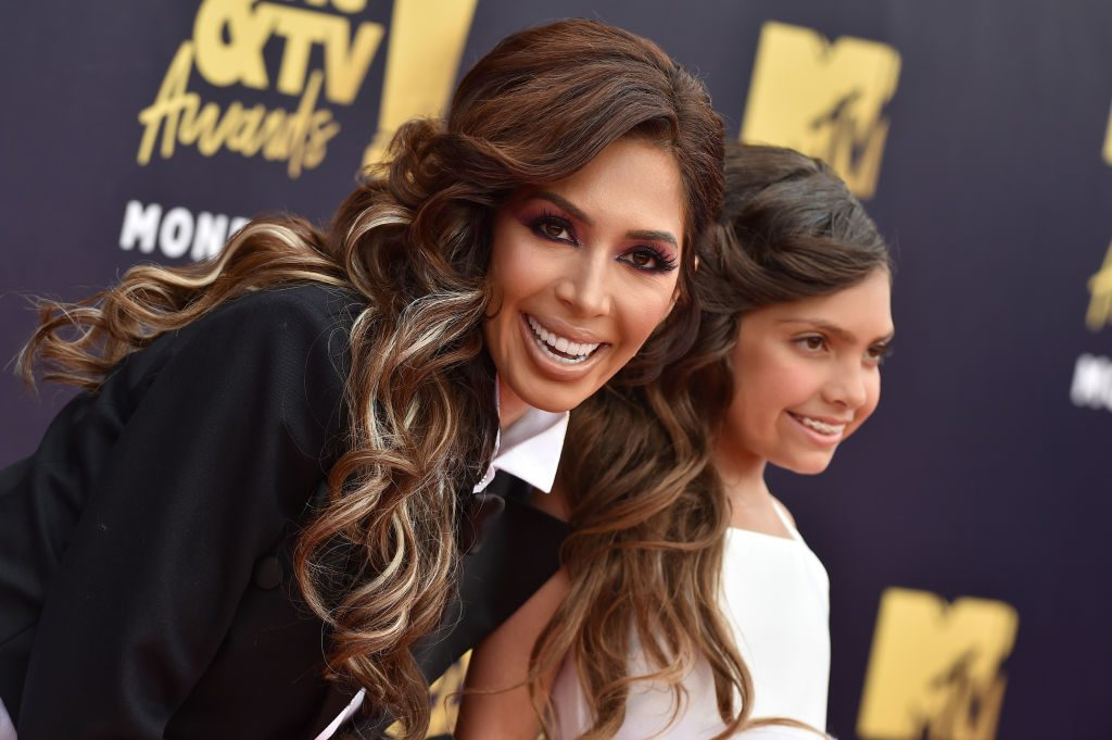 Farrah Abraham and Sophia Abraham attend the 2018 MTV Movie And TV Awards
