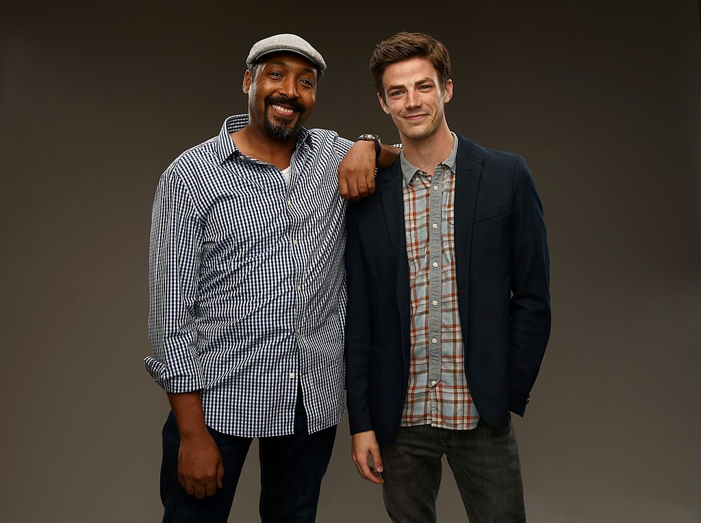 'The Flash' actors Jesse L. Martin and Grant Gustin