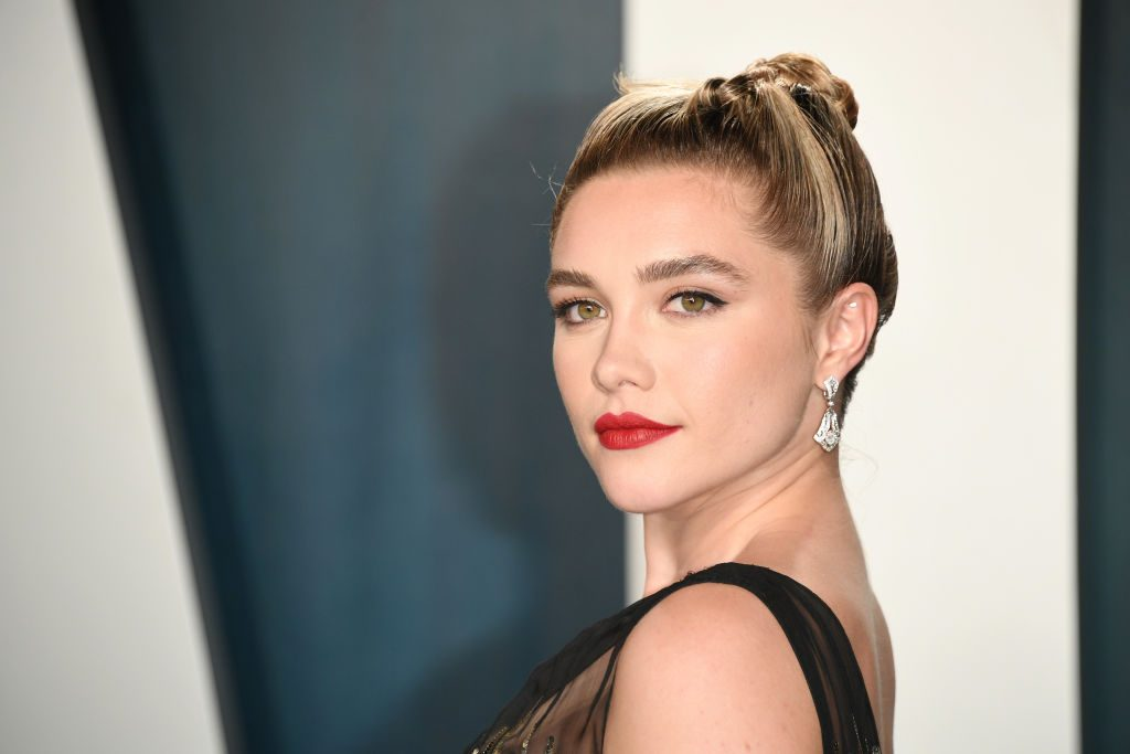Florence Pugh attends the 2020 Vanity Fair Oscar party