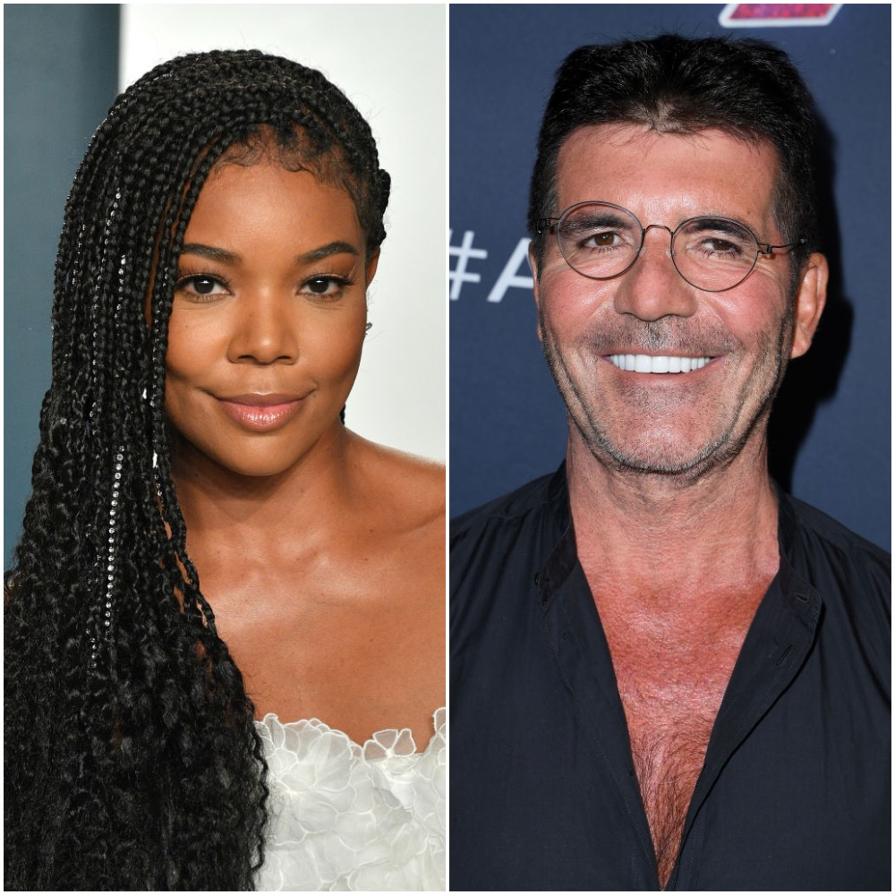 Gabrielle Union and Simon Cowell