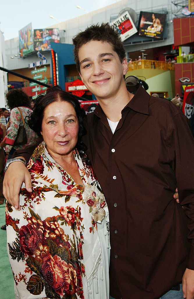 Shia LaBeouf (right) and his mother, Shayna