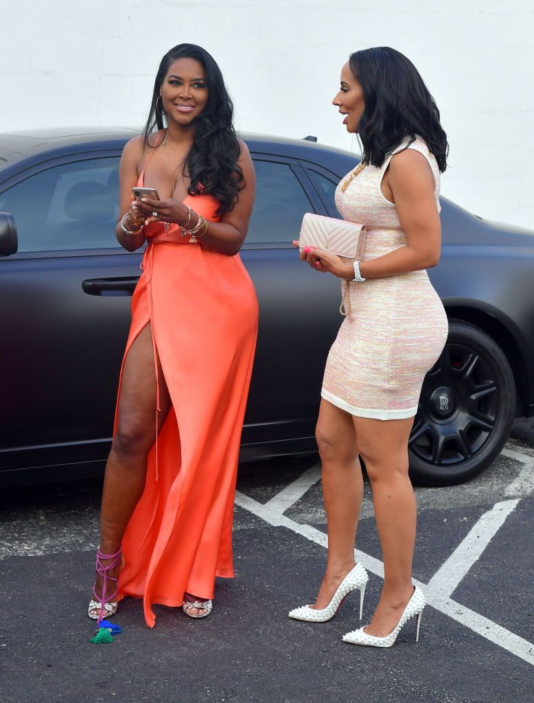 Kenya Moore and Tanya Sam