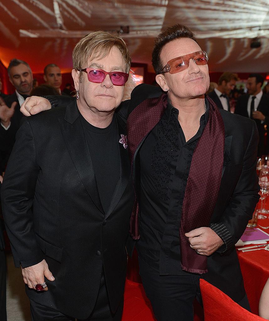 Elton John with Bono