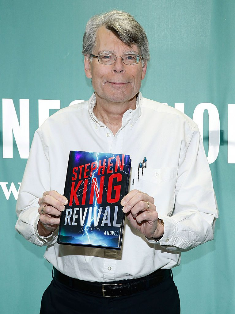 Author Stephen King and his book, 'Revival'