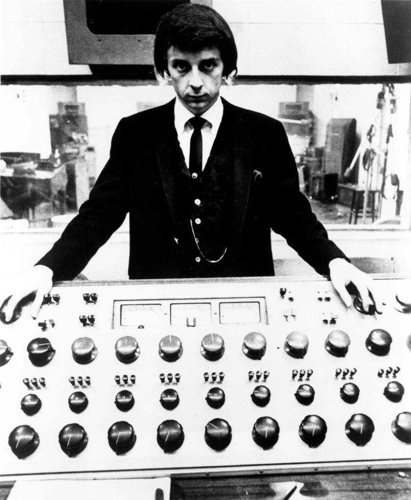Phil Spector at the mixing board in 1966
