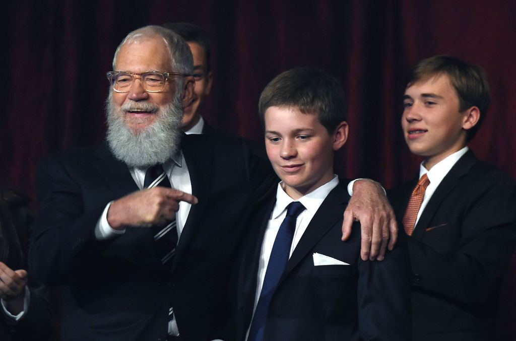David Letterman with son Harry