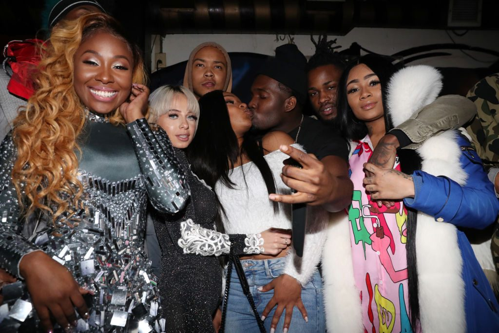 """Bianca Bonnie, Mariah Lynn, Kiyanne, Jaquae, Swift, and K Goddess attend Bianca Bonnie's """"10 Plus"""" Album Release Party at Le Souk on January 11, 2018 in New York City"""