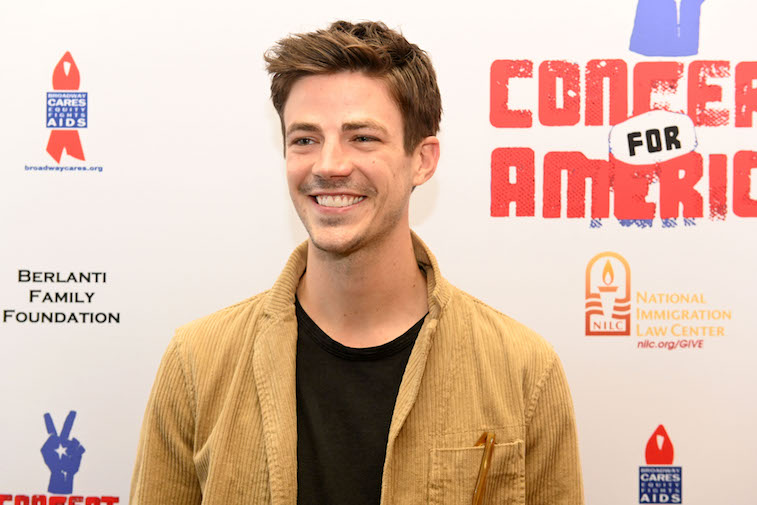 Grant Gustin on the red carpet