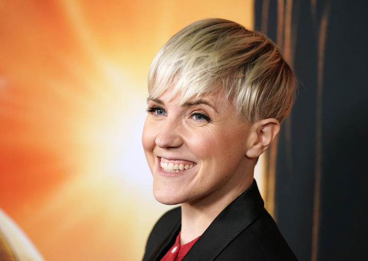 Hannah Hart on the red carpet