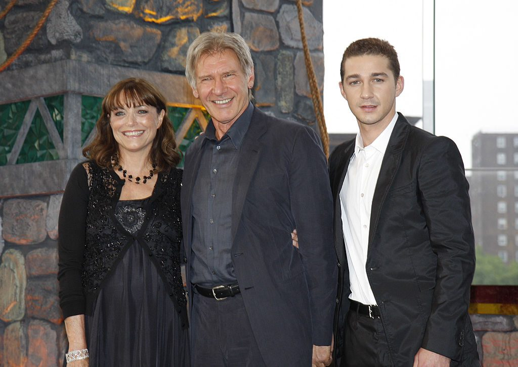Karen Allen, Harrison Ford and Shia LaBeouf