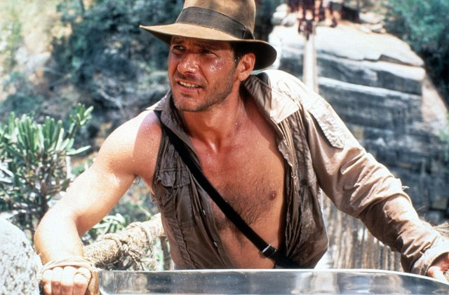 Harrison Ford as Indiana Jones in 'Indiana Jones and the Temple of Doom'