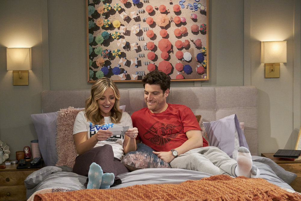 Indebted: Abby Elliott and Adam Pally