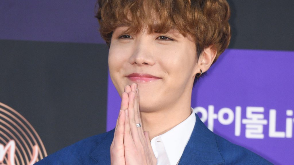J-Hope of Bangtan Boys (BTS) arrives at the photocall for the 34th Golden Disc Awards on January 05, 2020 in Seoul, South Korea.