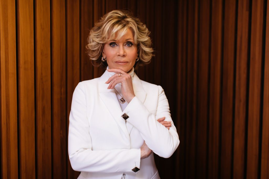 Jane Fonda wears Chopard at the Sydney Opera House.