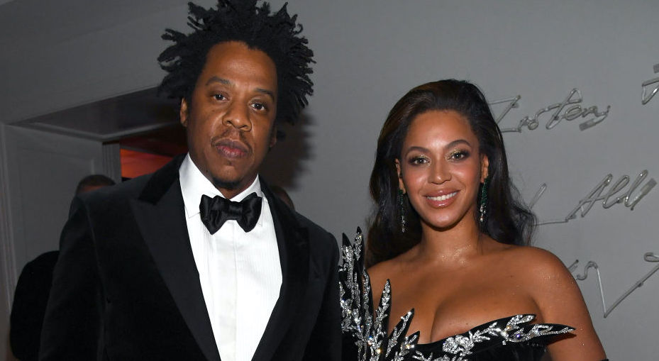 Jay-Z and Beyoncé Knowles-Carter at a party in December 2019