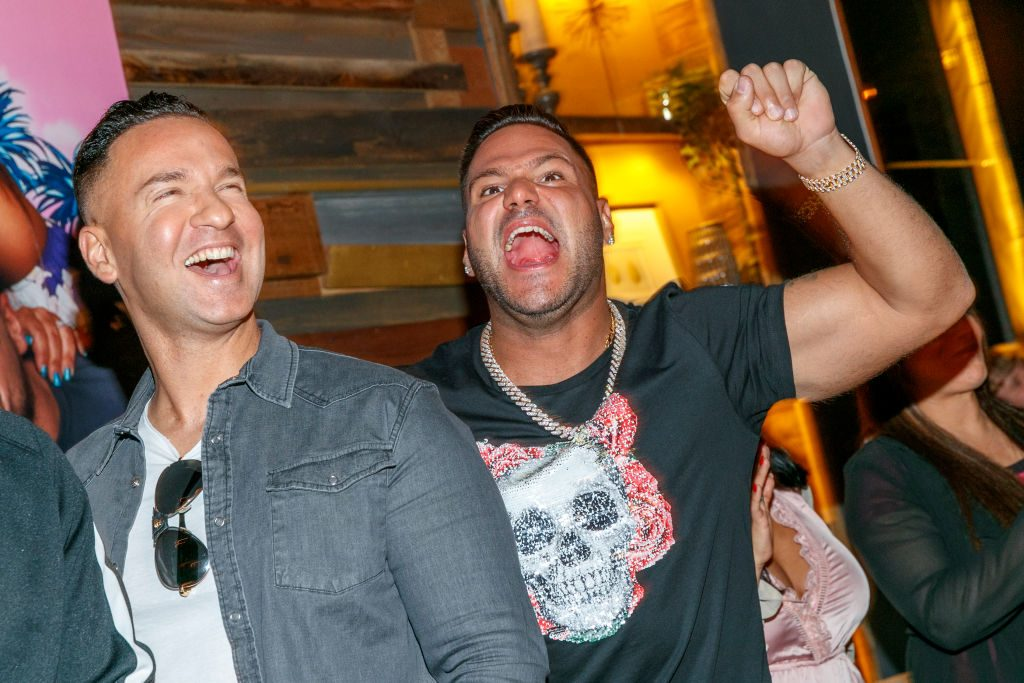 """Mike 'The Situation' Sorrentino and Ronnie Ortiz-Magro attend the """"Jersey Shore Family Vacation"""""""