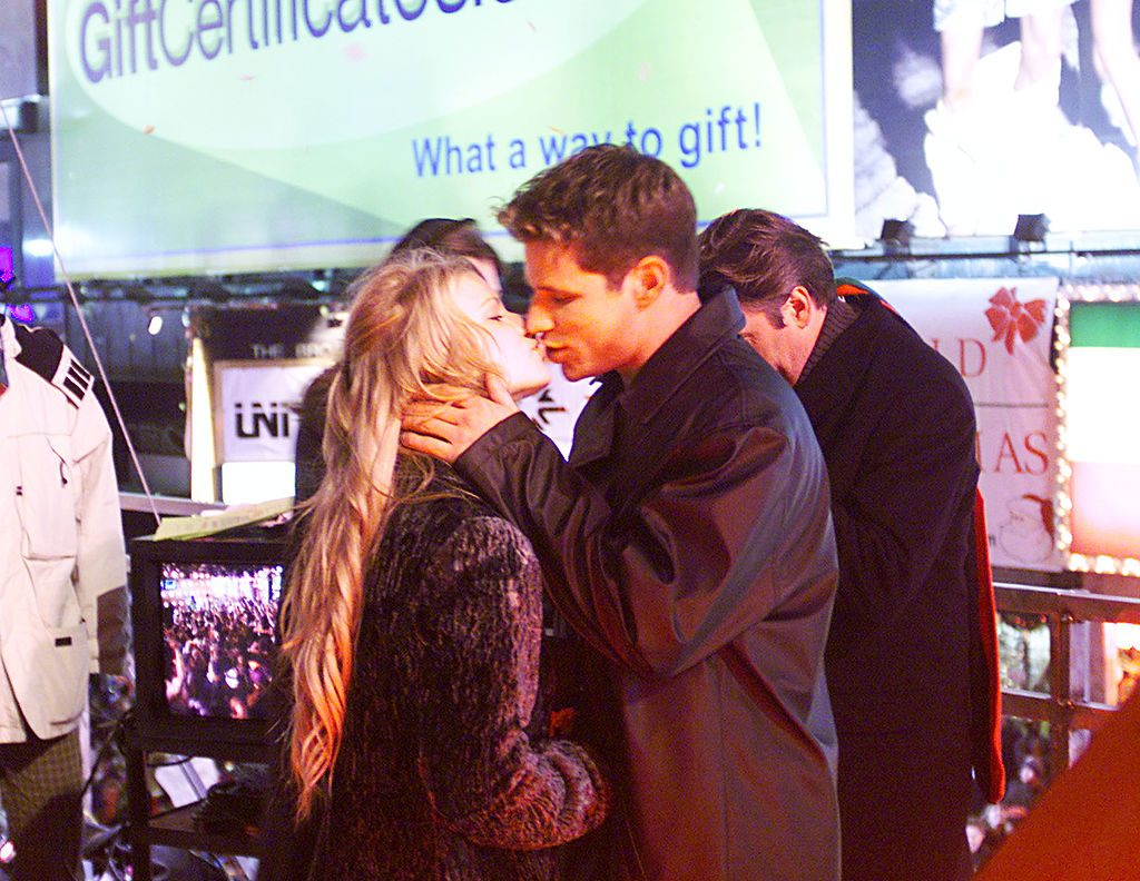 Jessica Simpson and Nick Lachey celebrating the New Year in December 1999