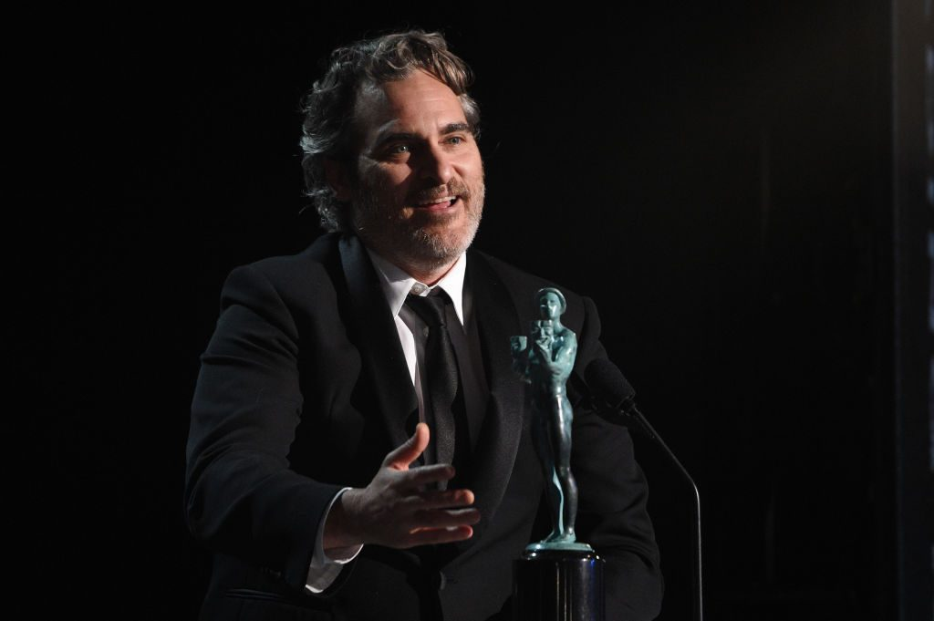 Joaquin Phoenix accepts the Outstanding Performance by a Male Actor in a Leading Role award for 'Joker'