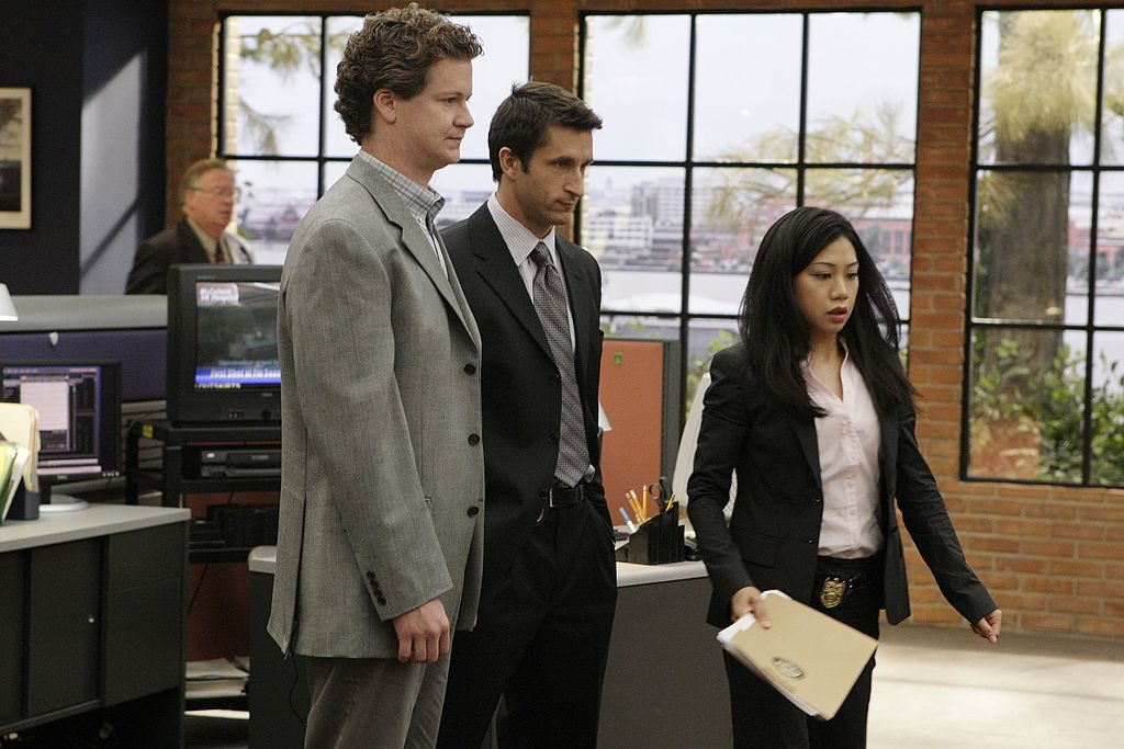 Jonathan Magnum, left, Jonathan LaPaglia, center, and Liza Lapira |  Sonja Flemming/CBS via Getty Images