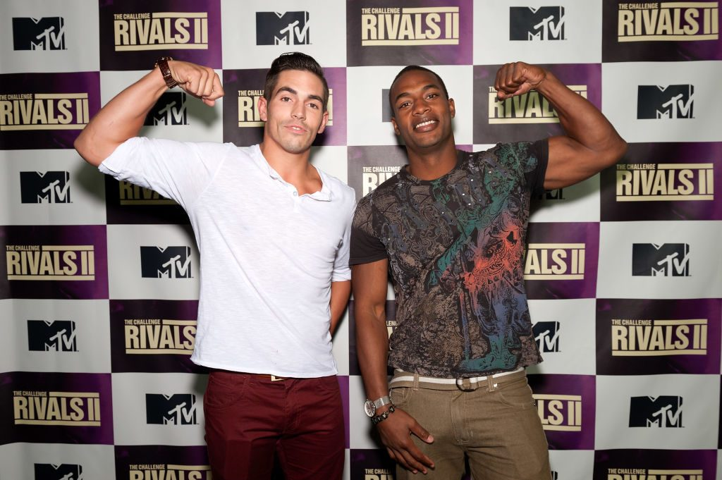 Jordan Wiseley (L) and Marlon Williams attend MTV's 'The Challenge: Rivals II' final episode and reunion party