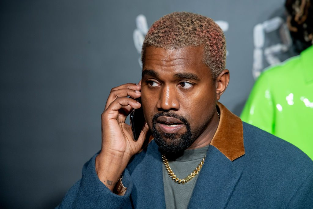 Kanye West at an event in 2018