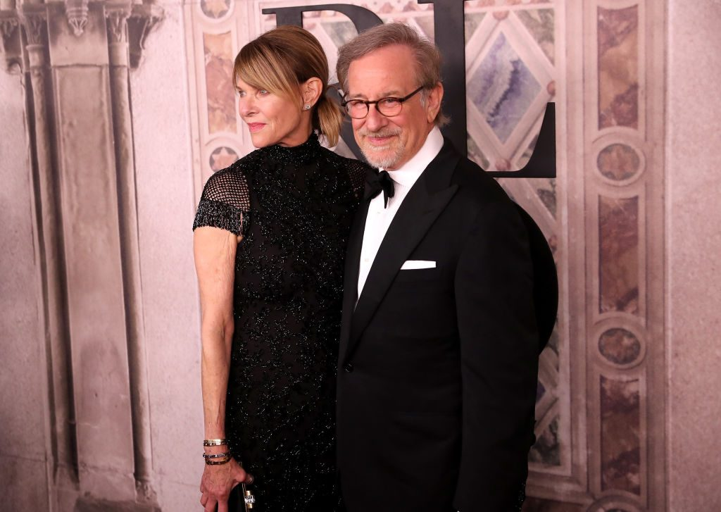Kate Capshaw and Steven Spielberg on the red carpet