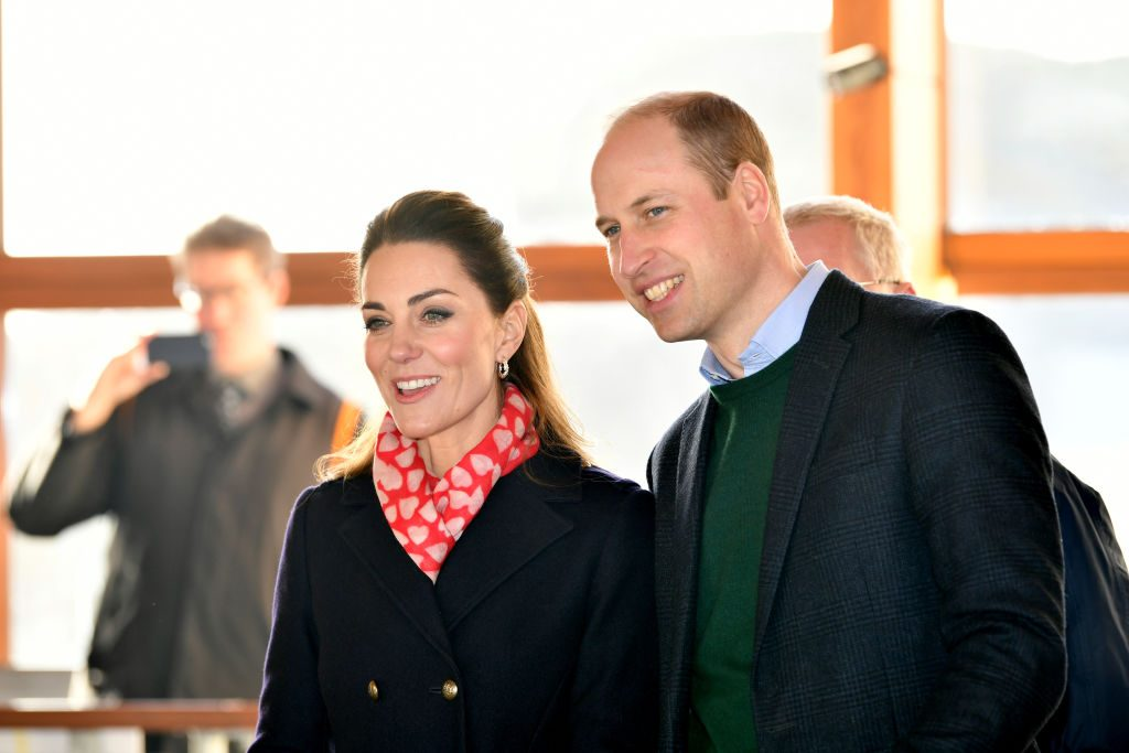 Prince William and Kate Middleton during a visit to the RNLI Mumbles Lifeboat Station