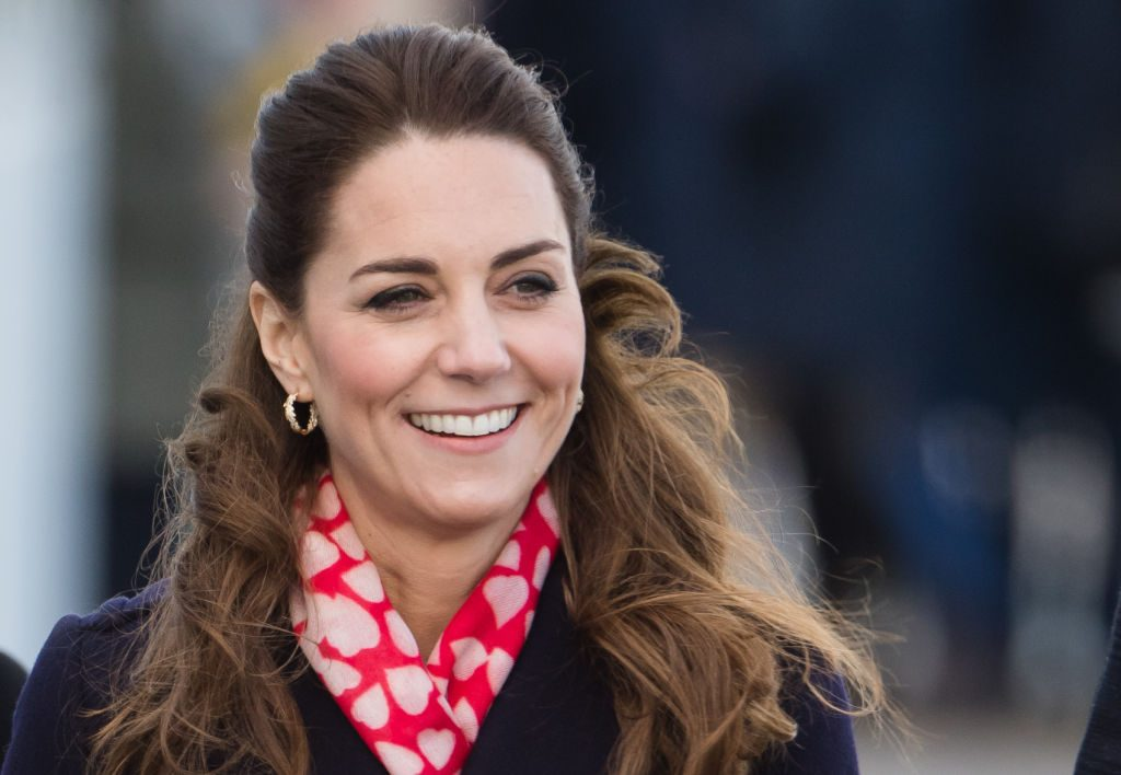 Kate Middleton visits Mumbles Pier on February 04, 2020