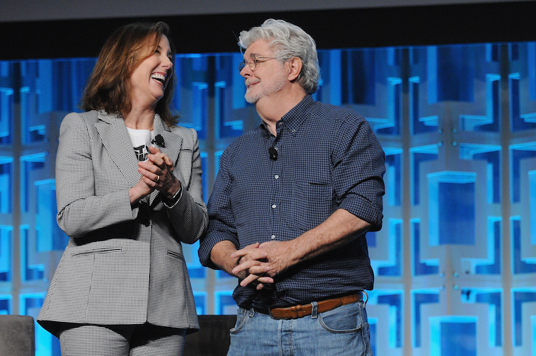 athleen Kennedy and George Lucas