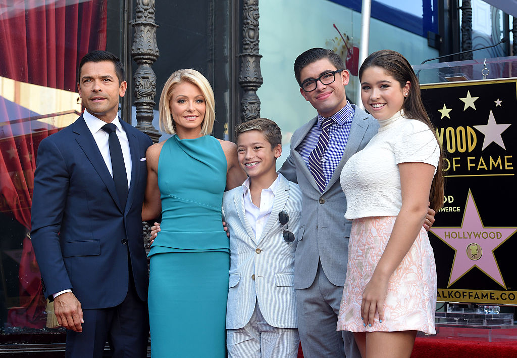 Kelly Ripa, husband Mark Consuelos, daughter Lola Consuelos, sons Michael Consuelos and Joaquin Consuelos