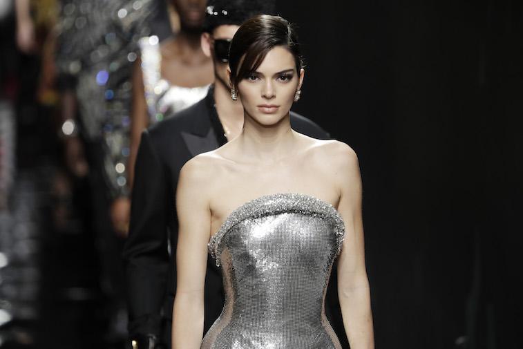 Kendall Jenner walking the runway