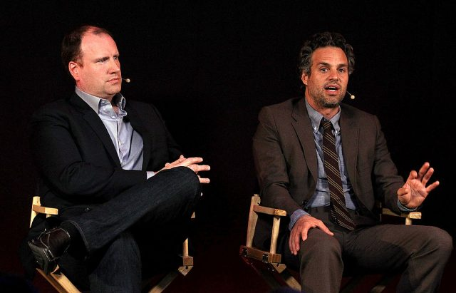Kevin Feige and Mark Ruffalo
