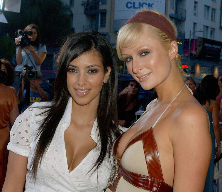 Kim Kardashian West and Paris Hilton