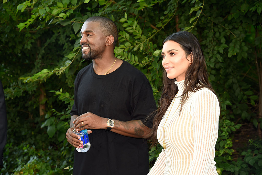 Kanye West and Kim Kardashian West