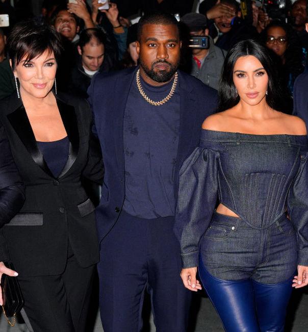 Kris Jenner, Kanye West, and Kim Kardashian West