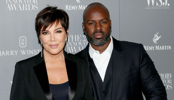 Kris Jenner and Corey Gamble on the red carpet in November 2019