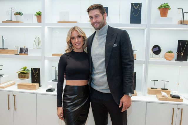Kristin Cavallari and Jay Cutler attend Uncommon James store opening in Chicago, Ill., on Oct. 25, 2019 | Timothy Hiatt/Getty Images