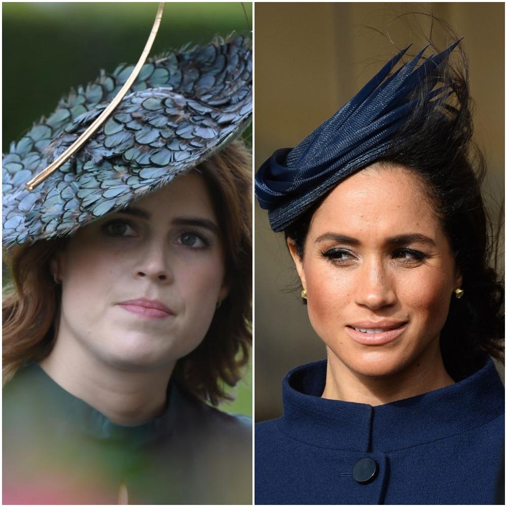 (L) Princess Eugenie, (R) Meghan Markle