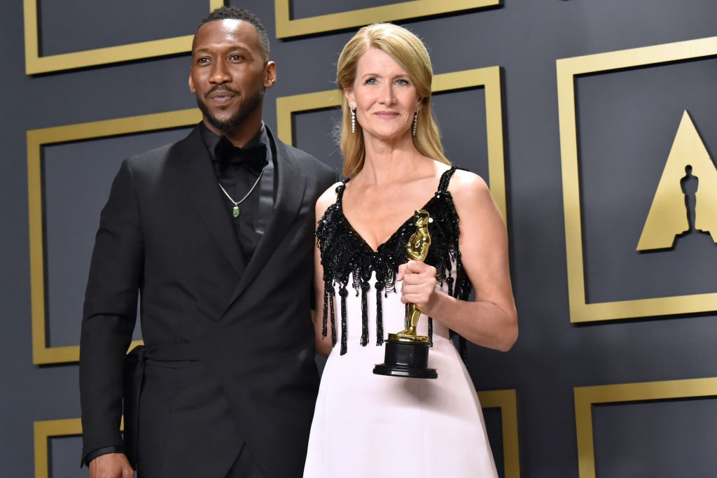 Mahershala Ali and Laura Dern, winner of the Actress in a Supporting Role award for 'Marriage Story'